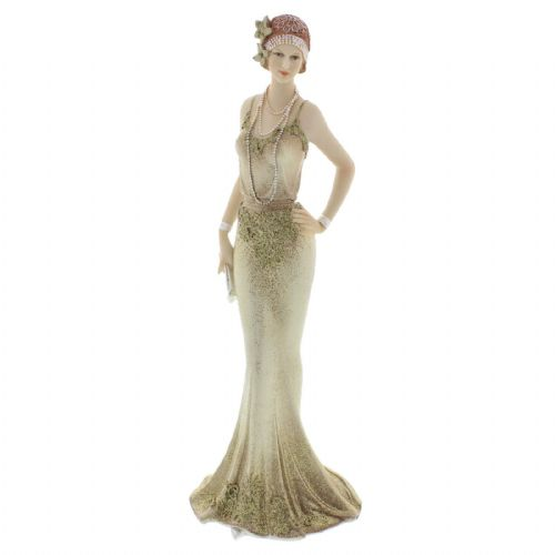 Art Deco 1920s Lady Figurine Cream Gold Broadway Belles by Juliana 'Sabina' 58430